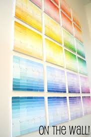 25 unique paint chip wall ideas on pinterest paint sample wall