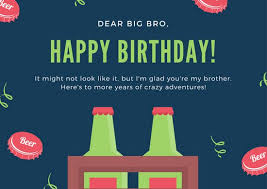 green blue brother birthday card templates by canva