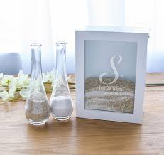 Sand Vases For Wedding Ceremony Unity Sand Ceremony White Shadow Box Set Sand Ceremony