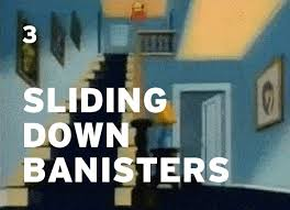 Sliding Down Banister 10 Things That Look Way Cooler When Cartoons Do It Collegehumor Post