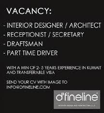 Part Time Interior Design Jobs by Jobs In Kuwait