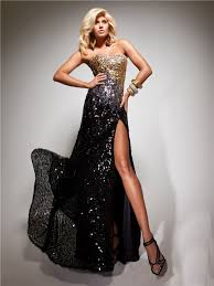 black and gold dress sweetheart black gold sequined beaded evening prom dress with