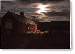Tom Barn Barn And Full Moon Photograph By Tom Singleton