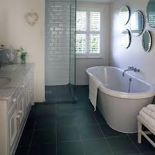 bathroom flooring ideas uk white bathroom with grey slate floor slate flooring white