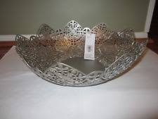 Large Silver Decorative Bowl Metal Decorative Bowls Ebay