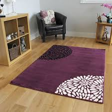 rugs uk modern small large purple aubergine modern rugs quality soft floral