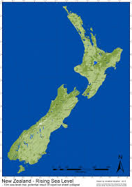 World Map New Zealand by Nz Sea Level Rise