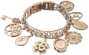 anne klein charm bracelet watches images Anne klein women 39 s 10 8096rmch swarovski crystal jpg