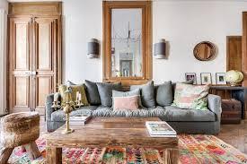 livingroom wall decor living room grey polyester blend convertible sofa brown laminated