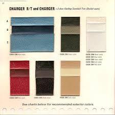the 1970 hamtramck registry 1968 dodge color u0026 trim book charger