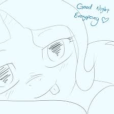 trixie goodnight sketch by theparagon on deviantart