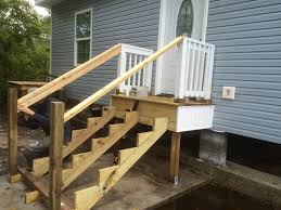 2 Step Handrail We Built Some God Blessed Back Porch Steps And So Can You
