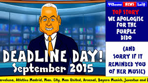 deadline day 2015 cartoon funny sky sports jim white parody