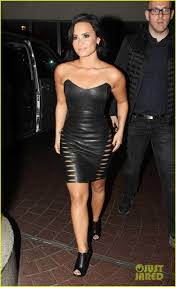 demi lovato rocks tight leather dress in london photo 3456055