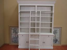 White Sling Bookcase by Ladder For Bookcase With Rail Bobsrugby Com