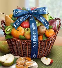 feel better soon gift basket fruit get well gift basket
