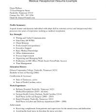 Secretarial Resume Template Download Medical Secretary Resume Haadyaooverbayresort Com