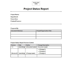monthly status report template word monthly management report