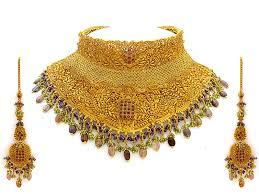 wedding gold necklace sets images Gold necklace set arts jpg