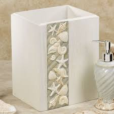 Seaside Themed Bathroom Accessories Seashore Coastal Bath Accessories From Chapel Hill By Croscill
