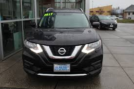 nissan rogue 2017 black gasoline nissan rogue sv in washington for sale used cars on