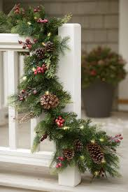 pre lit wreath faux pine pre lit christmas outdoor garland gardeners