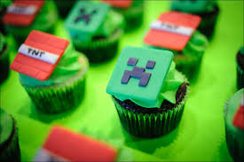 minecraft cupcakes minecraft cupcake and cake fondant toppers gray barn baking