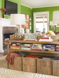 everett foyer table from world market used as a sofa table for
