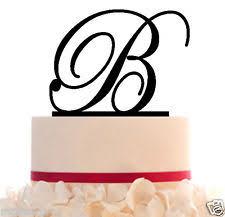b cake topper plastic monogram wedding cake decorations ebay