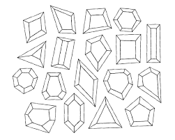 diamond clipart hand drawn gemstone clip art digital diamond clipart