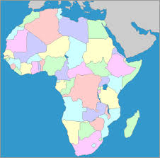 africa map color continent map no color