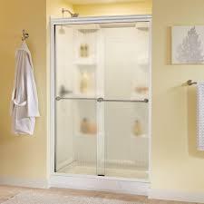 Make Your Own Shower Door Delta Portman 48 In X 70 In Semi Frameless Sliding Shower Door