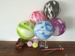 cheap balloons cheap 10inch wedding decoration agate marble balloons colorful