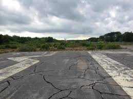 Rhode Island Travel Kettle images A look down the old runway only the numbers are now left jpg
