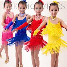 kids samba royal blue fuchsia hot pink yellow rhinestones tassels fringes