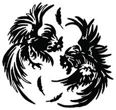 Black And White Rooster Decor Amazon Com Cockfighting Rooster Vinyl Decal Sticker For Vehicle