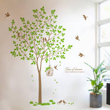 life size tree wall decals large sticker tree life size tree life style big tree wall sticker graint birds trees wall decal diy removable vinyl mirror size