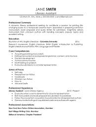 English Resume Example by Assistant Literary Agent Resume Example