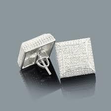 mens diamond stud earrings mens diamond stud earrings 0 21ct sterling silver
