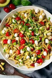 What Is Pasta Salad Avocado Caprese Pasta Salad Cooking Classy