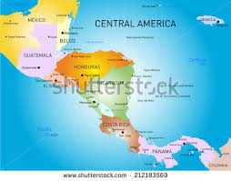 anerica map vector color central america map stock vector 212183569