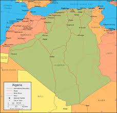 algeria physical map algeria map and satellite image