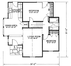 tudor style house plan 2 beds 1 00 baths 922 sq ft plan 43 103