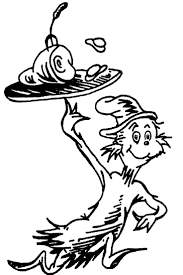 coloring cat in the hat hat coloring page