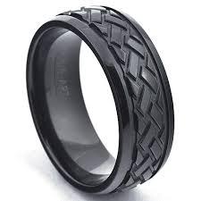 black zirconium wedding bands zirconium wedding band car tire pattern