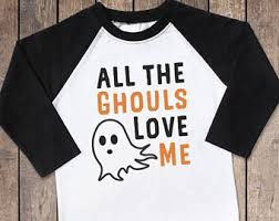 all the ghouls love me boy halloween shirt ghost shirt