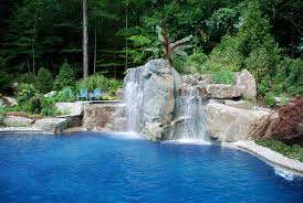 Backyard Water Falls by Backyard Swimming Pools Waterfalls U0026 Natural Landscaping Nj