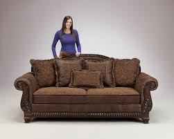 living room sofa truffle traditional set old world couch wood trim