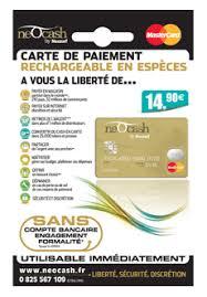 carte bleu bureau de tabac carte de paiement prépayée sans compte bancaire neocash mastercard