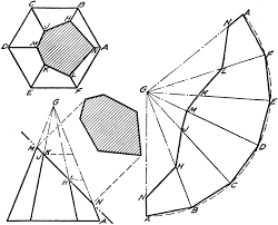 development of hexagonal pyramid clipart etc